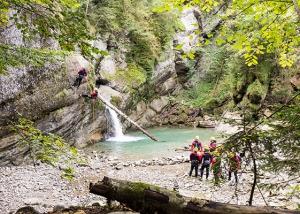 abenteuerreich erlebnistouren, canyoning, allgäu, jga, betriebsausflug, geführte tour