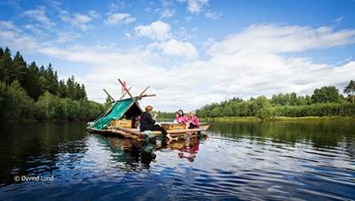 abenteuerreich erlebnistouren, Floßbau, Schweden, sommertouren, jga, betriebsausflug,
