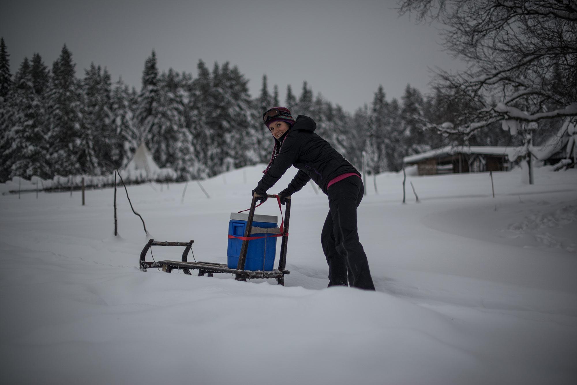 abenteuerreich Erlebnistouren, Solberget, Wildnisdorf, Lappland, Polarkreis, Winterurlaub, Slowtravel