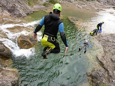 abenteuerreich erlebnistouren, canyoning, allgäu, geführte Tour, Alpen, Canyoningguide